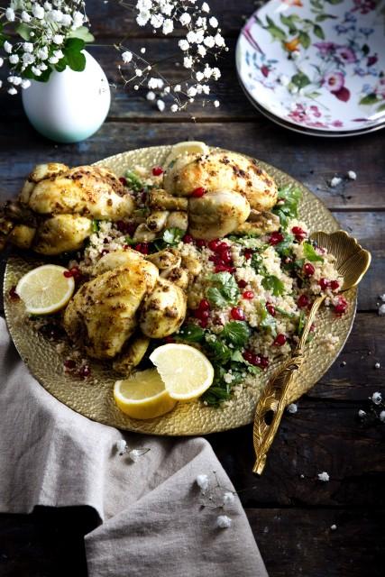 Marokkaanse krielkipjes met kruidenquinoa
