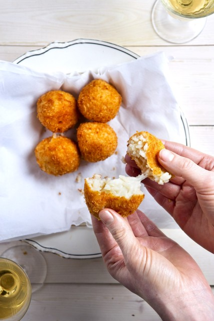 vega snacks Gefrituurde risottoballetjes