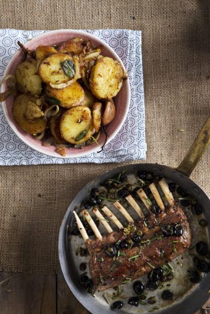 ultieme comfort food lamsvlees met Lyonnaise aardappels
