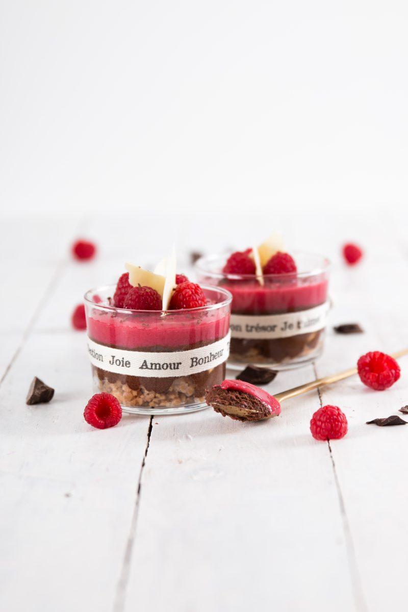 chocolademousse frambozen