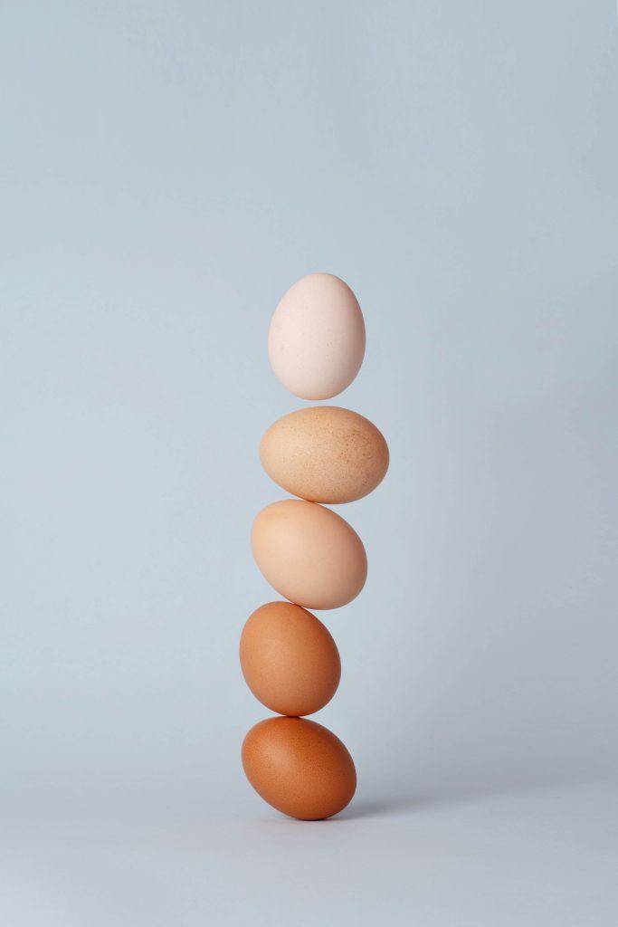 verschil tussen witte en bruine eieren verloop van kleur in eieren