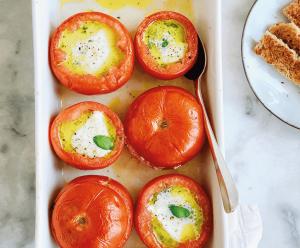 gevulde tomaten met mozzarella