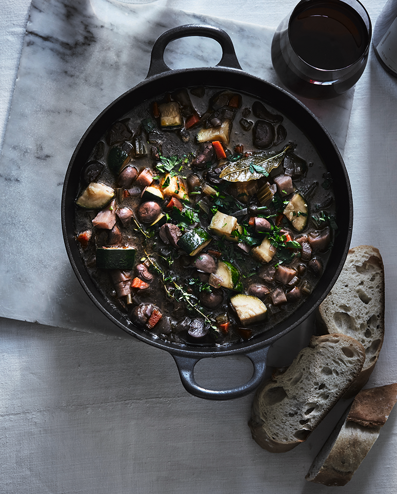 Meatless Bourguignon