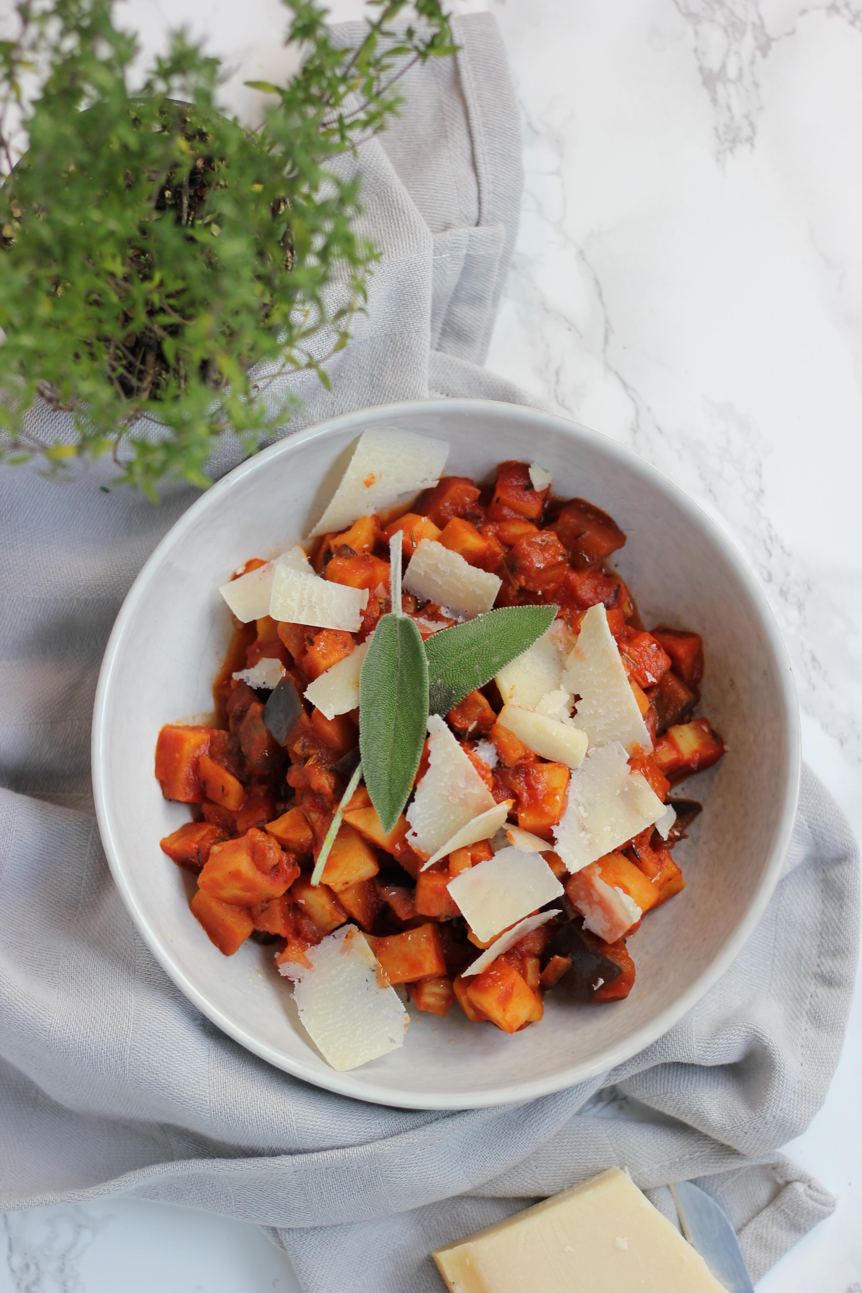 Italiaanse stoof met pastinaak en verse kruiden