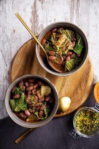 seizoensgroenten voor oktober: Borlottibonen met savooiekool