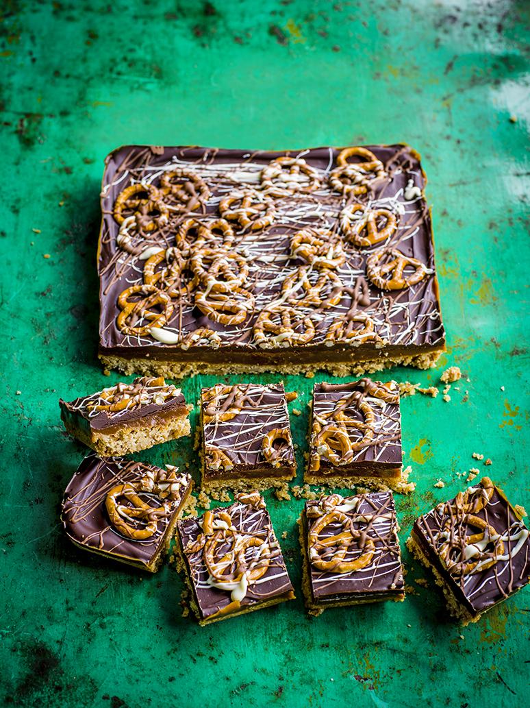 Millionaire's shortbread met pretzels