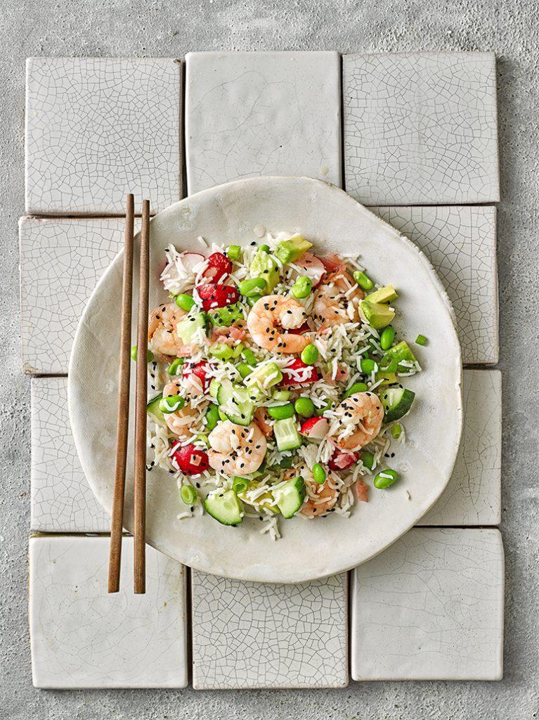 Snelle Japanse rijstsalade