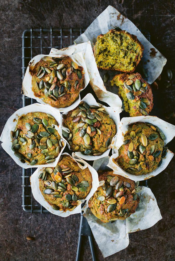 Weekendbaksels Little Green Kitchen 146-147 Sweet Potato & Spinach Muffins