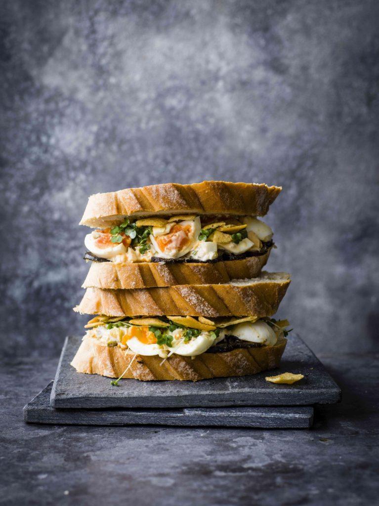Goedgevuld broodje ei met mayo