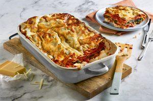 wereld lasagne dag met spinazie en ricotta