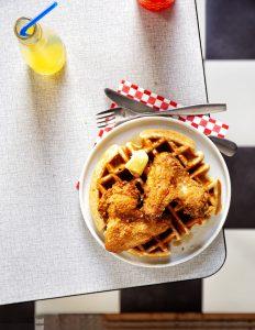 Chicken & waffles fried chicken day