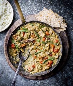 Sri Lankaanse kip curry met cashewnoten