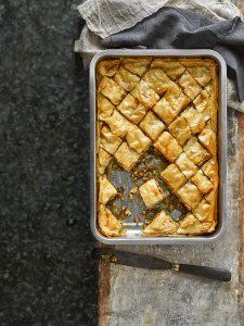 Baklava met gezouten-honingsiroop