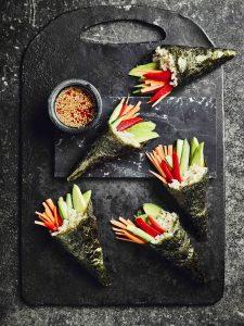 Temaki (sushi hand rolls)