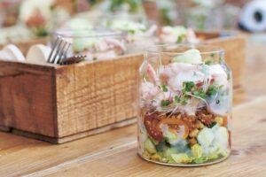 Garnalencocktail in een potje van Jamie Oliver