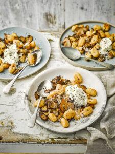 Gnocchi met champignons en parmezaan